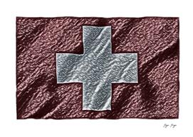 Switzerland Flag Metal Alloy Engine Money Original Fo