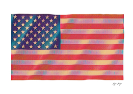 Usa Flag Great Power Govern State Law Symbol