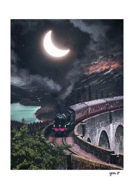 Crescent Moon Train Smoke