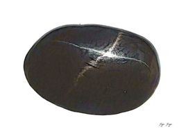 Black Star Mineral Crystal Polished Jewelry Adornments