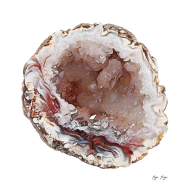Druzy Druse Coating Crystals Fracture Surface Vug Geode