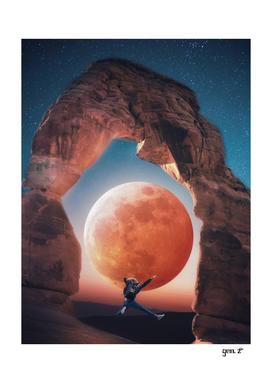 Jump orange moon