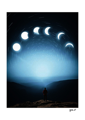 Moon Phases in sky