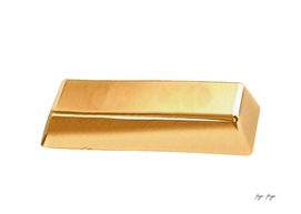 Gold Ingot Material Metal Shape Suitable Further Processing