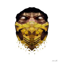 Scorpion Mask Lowpoly Style