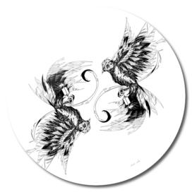 Two Little Bird Lineart Edition