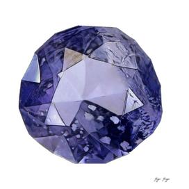 Iolite Magnesium Iron Aluminium Cyclosilicate Crystal
