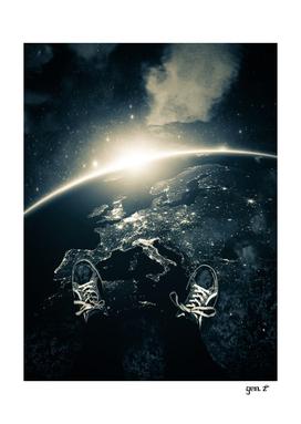 Walking on the Earth Asphalt