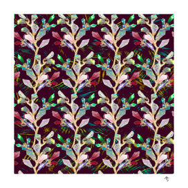 crystal-plant, multicolored, sparkling,