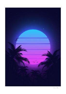 80s Palm Sunset