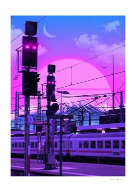 Vaporwave Train