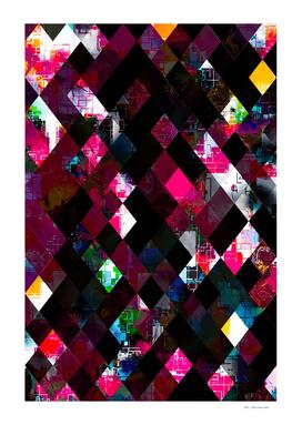 pink geometric pixel square pattern abstract art