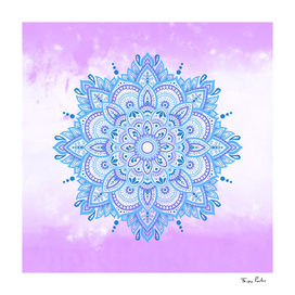 Blue Relaxing Mandala 2