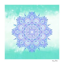 Blue Relaxing Mandala