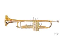 Trumpet Classical Jazz Ensembles Scene Super Fine Art