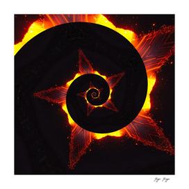 Symmetric Pattern Fire Energy Trip Endless Loop Contr