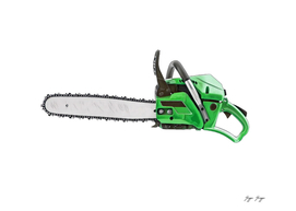 Chainsaw Portable Powered Cuts Teeth Attached Rotatin