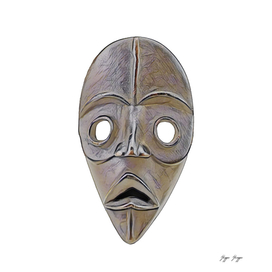 Mask African Sacrifice Saddest Hollowed Dug Wood Expr