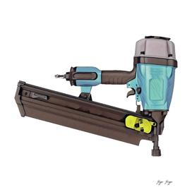 Pneumatic Nailer Nail Gun Drive Wall Hole Deep