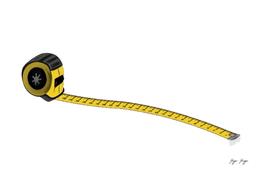 Tape Measure Measuring Flexible Ruler Size Distance T