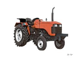 Tractor Opened Vehicle Tractive Effort Machinery Mini