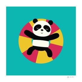 Panda in the sea