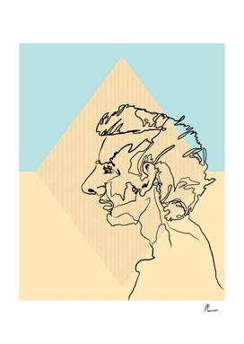 Gary Line Drawing