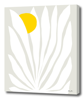 Tropical Fan Leaf - White & Stone Matisse collage 3