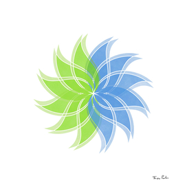 Green and Blue Duality Flower