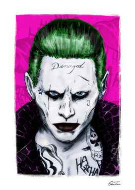Joker - Ink & Digital Portrait