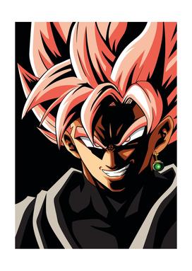 BLACK GOKU ROSE Dragon Ball