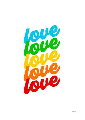 Rainbow Love - Pride month