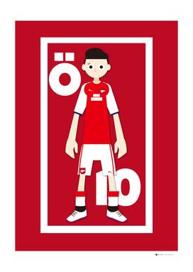 Go Goal Your Team Player Ozil 10