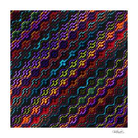 Dark Multicolored Mosaic Pattern