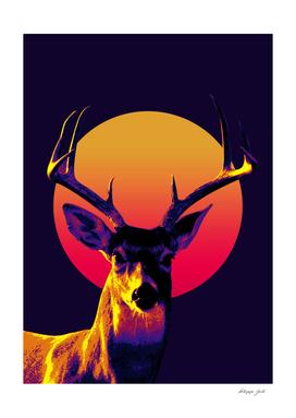deer retro