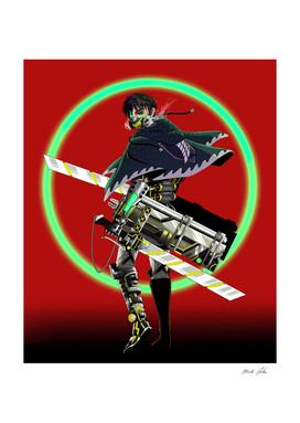 Eren Jeager Cyberpunk Style