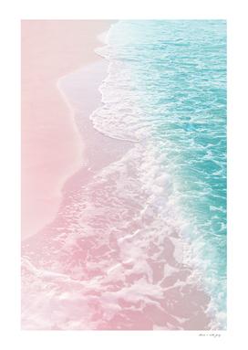 Soft Blush Pink Turquoise Ocean Dream #1 #water #decor #art