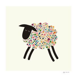 Colorful Fun Sheep
