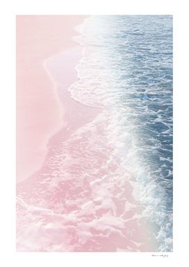 Blush Pink Blue Ocean Dream Waves #2 #water #decor #art