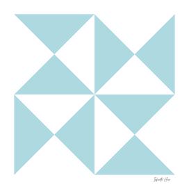 Powder Blue Triangles | Beautiful Interior Design