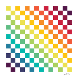 Infinite Hue Diagonal Checkerboard | Interior Design