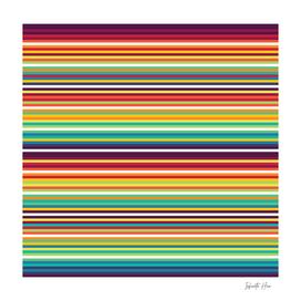 Infinite Hue Micro Multi-Colored Horizontal Stripes | Design
