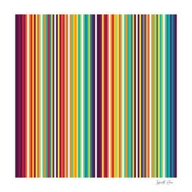 Infinite Hue Micro Multi-Colored Vertical Stripes | Design