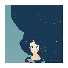 STAR HAIRED WOMAN