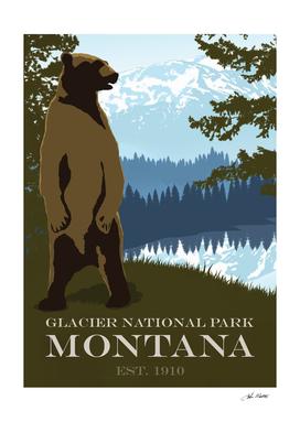 Glacier Park Travel Poster