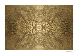 Autumn kaleidoscope with glittering dew drops