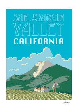 San Joaquin Valley California Travel Poster