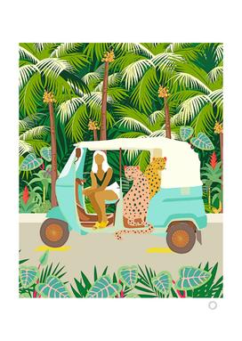Rikshaw Ride With Javan Leopards in Bali