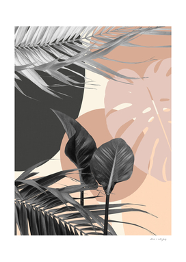 Tropical Leaves Summer Finesse #2 #tropical #decor #art