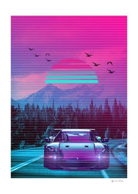 Car Classic Retro  Montain  2077